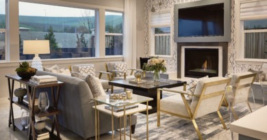 Living room of residential interior