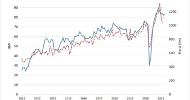 Chart Showing Builder Confidence