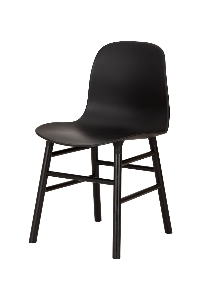 Replica Form Dining Chair with Black Timber Legs