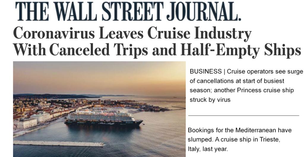 Cruise Operators Struck By Virus
