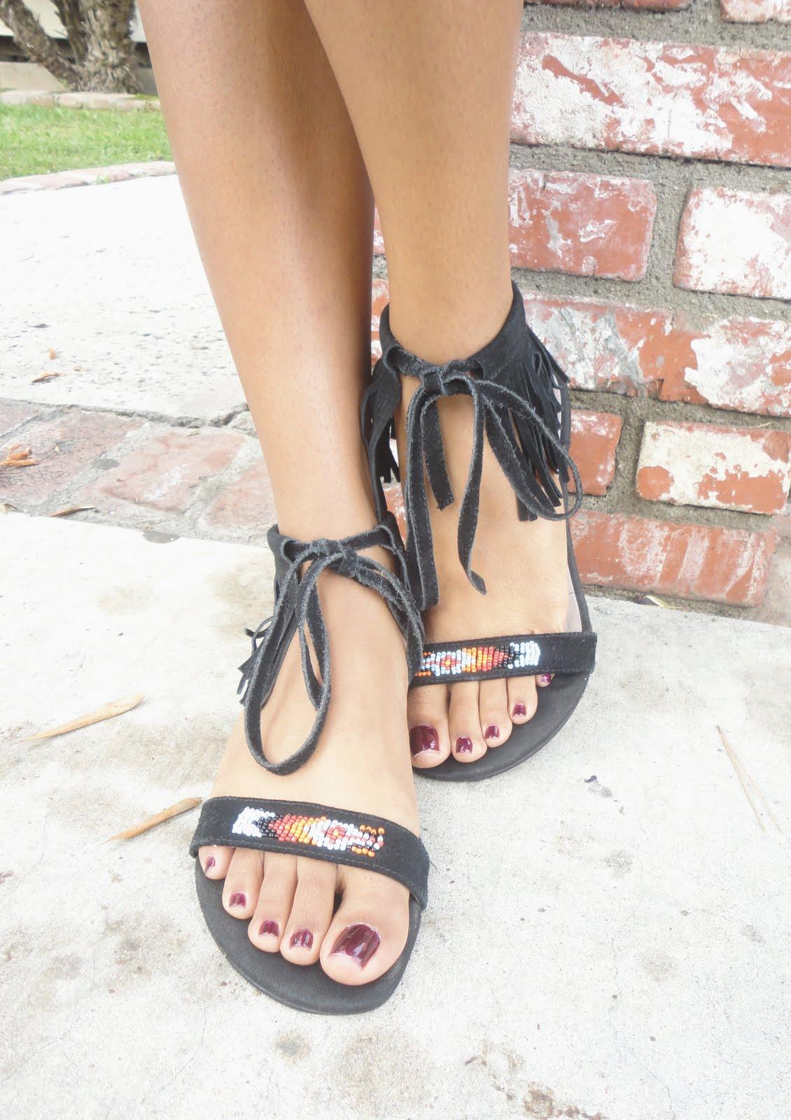 tribal inspired sandals