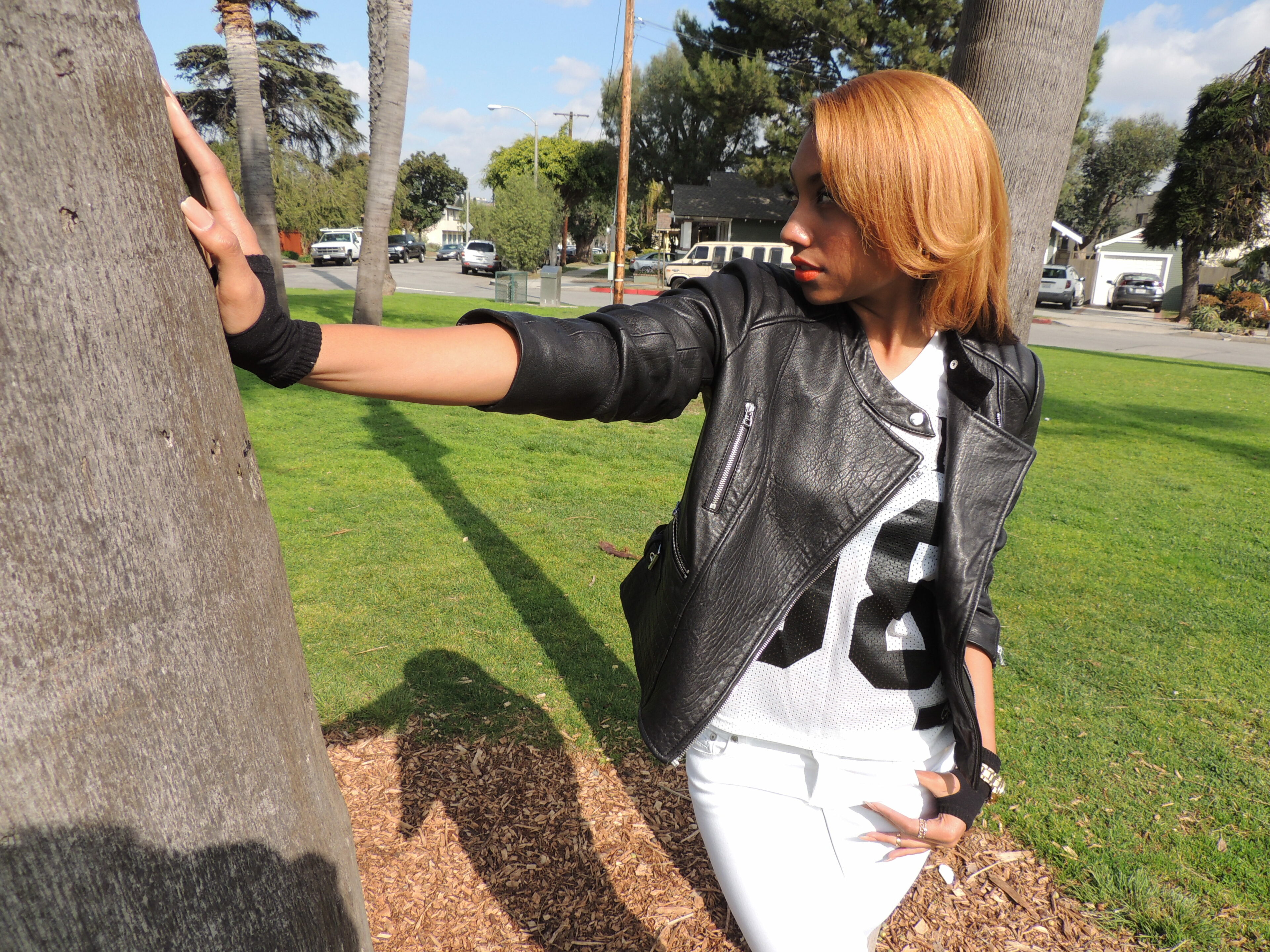 how to wear a leather jacket in long beach