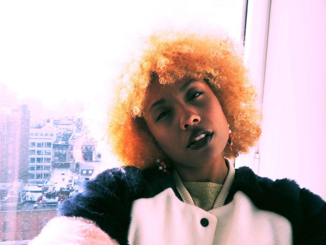 LiveClothesMinded in Nomo Hotel in Soho New York, selfie, wearing Zara fur jacket