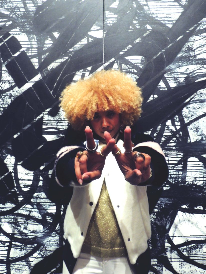 Onitsuka Tiger Pop Up in Soho, girl with big hair