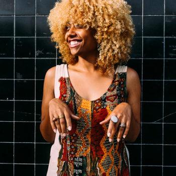 midi or maxi dress for the summer-natural hair-afro-long beach