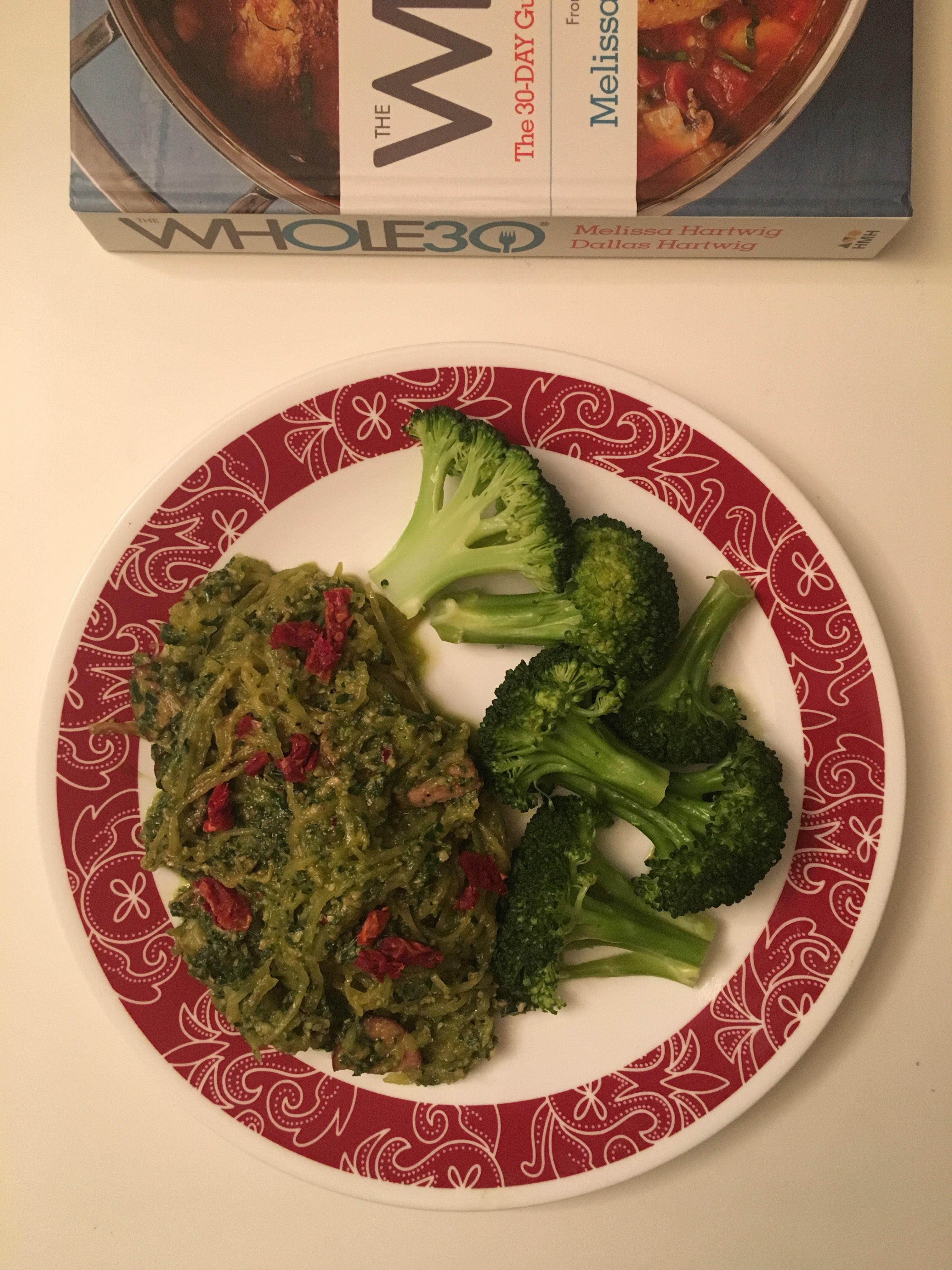 Whole 30 Book Recipe: Pesto Spaghetti Squash