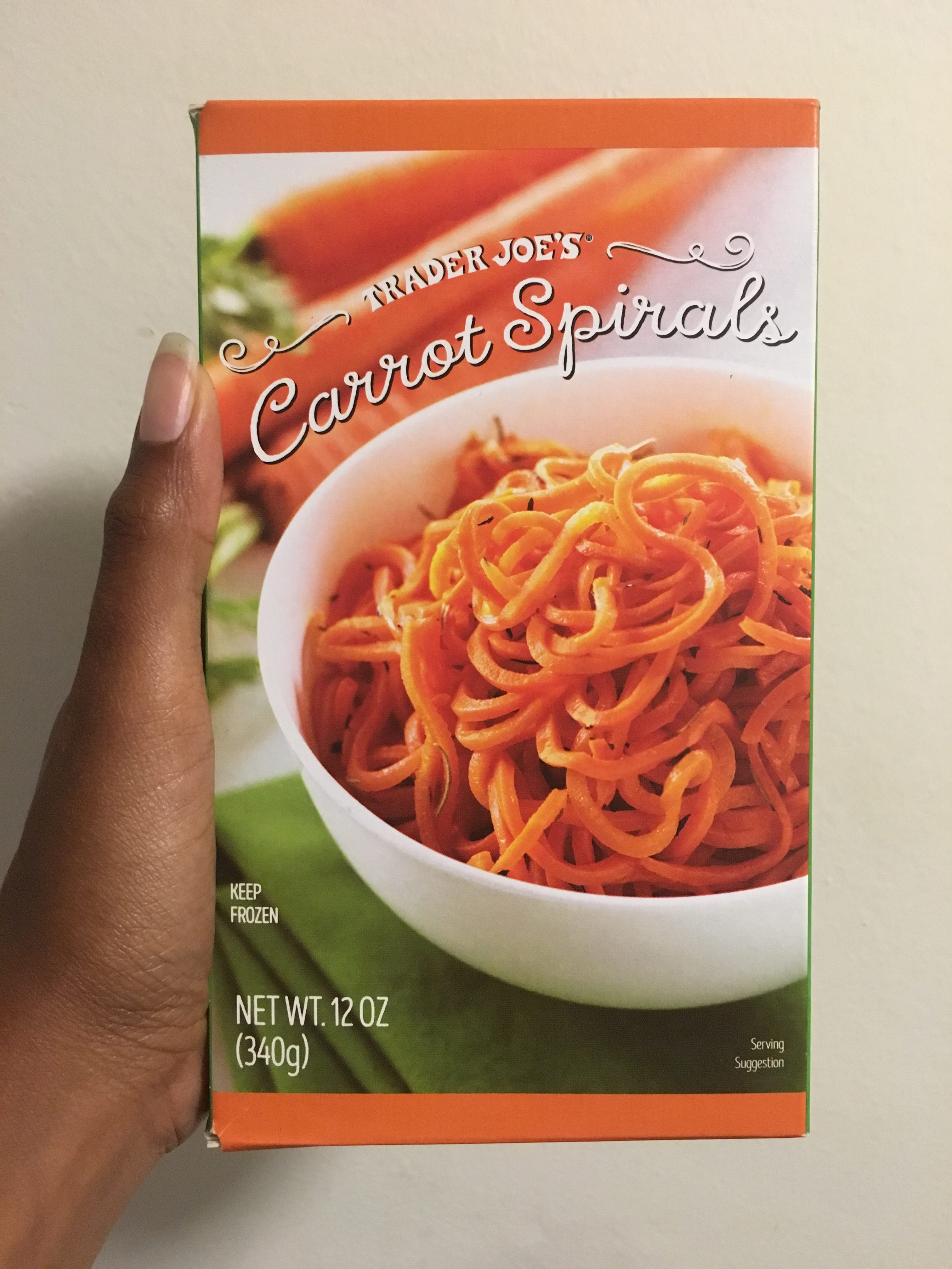Whole 30 Approved Trader Joe's Carrot Spirals