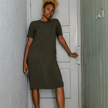 fit femme-LCM-liveclothesminded-shirt dress-dress with sneakers-dad shoe trend