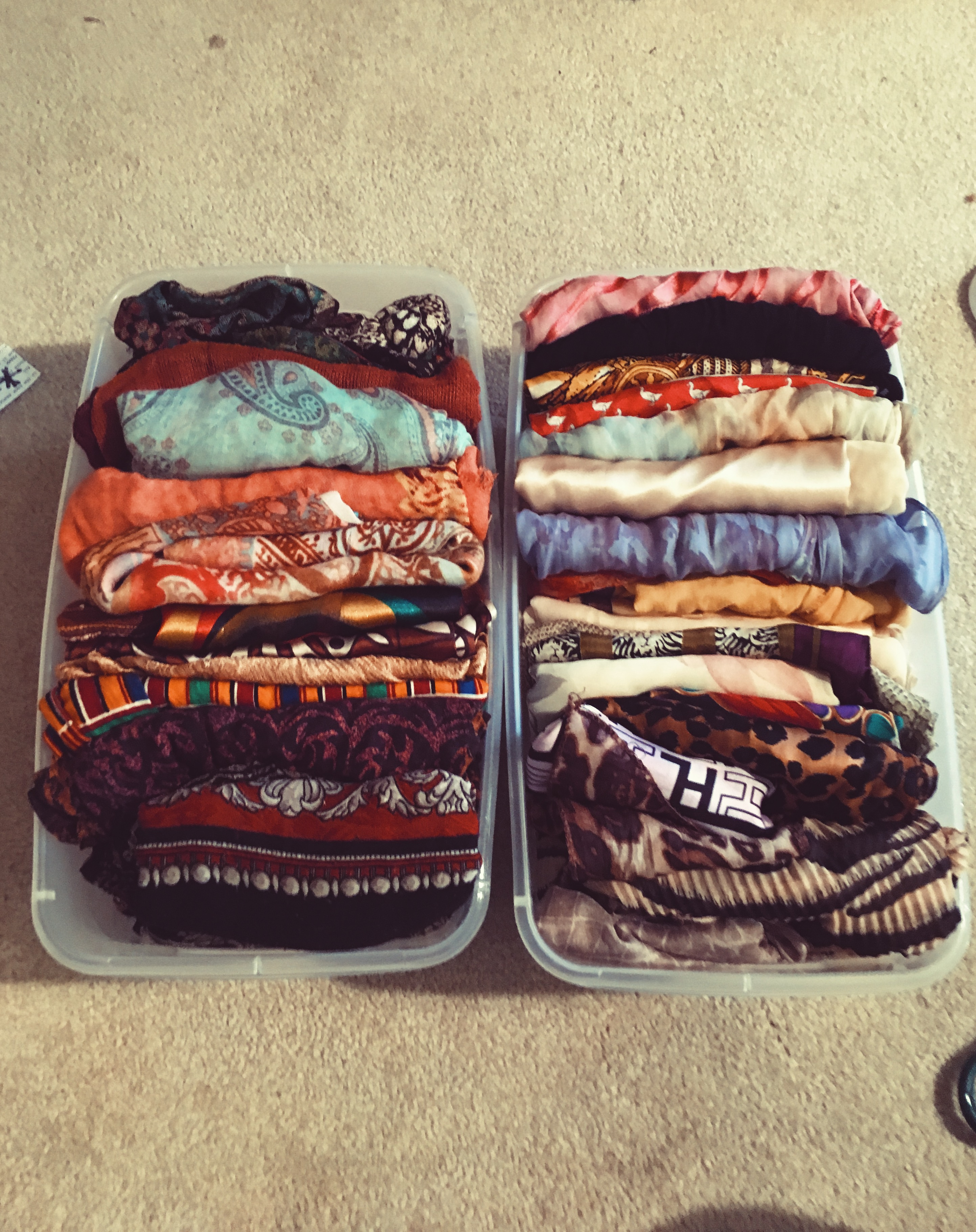 micro organized scarves-closet organizing-how to organize scarves-wear who you are