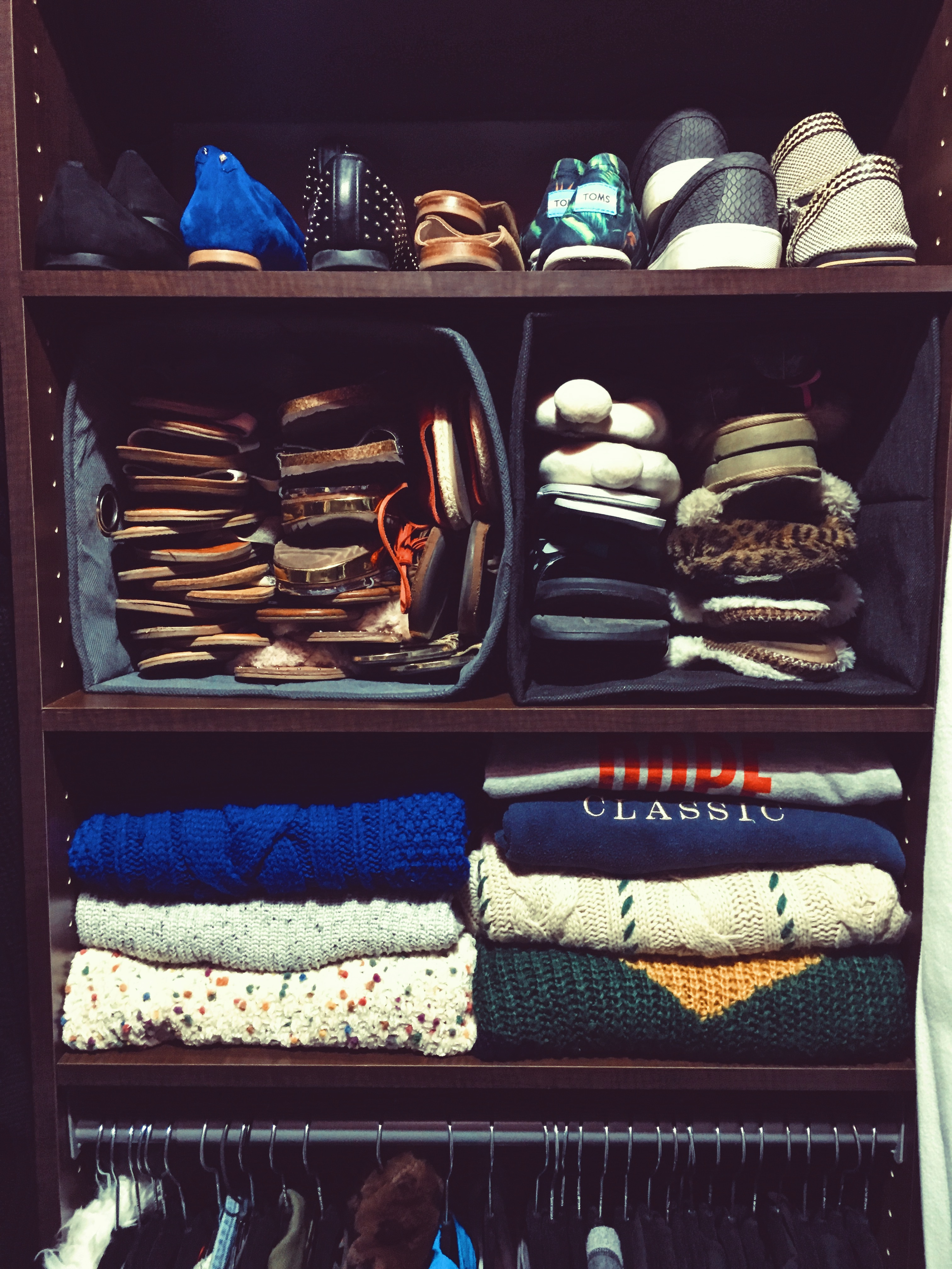 closet organization-how to store shoes-how to organize sandals-wear who you are