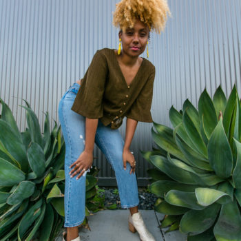 wedgie fit straight jeans-summer outfit-wear who you are-h&m shirt