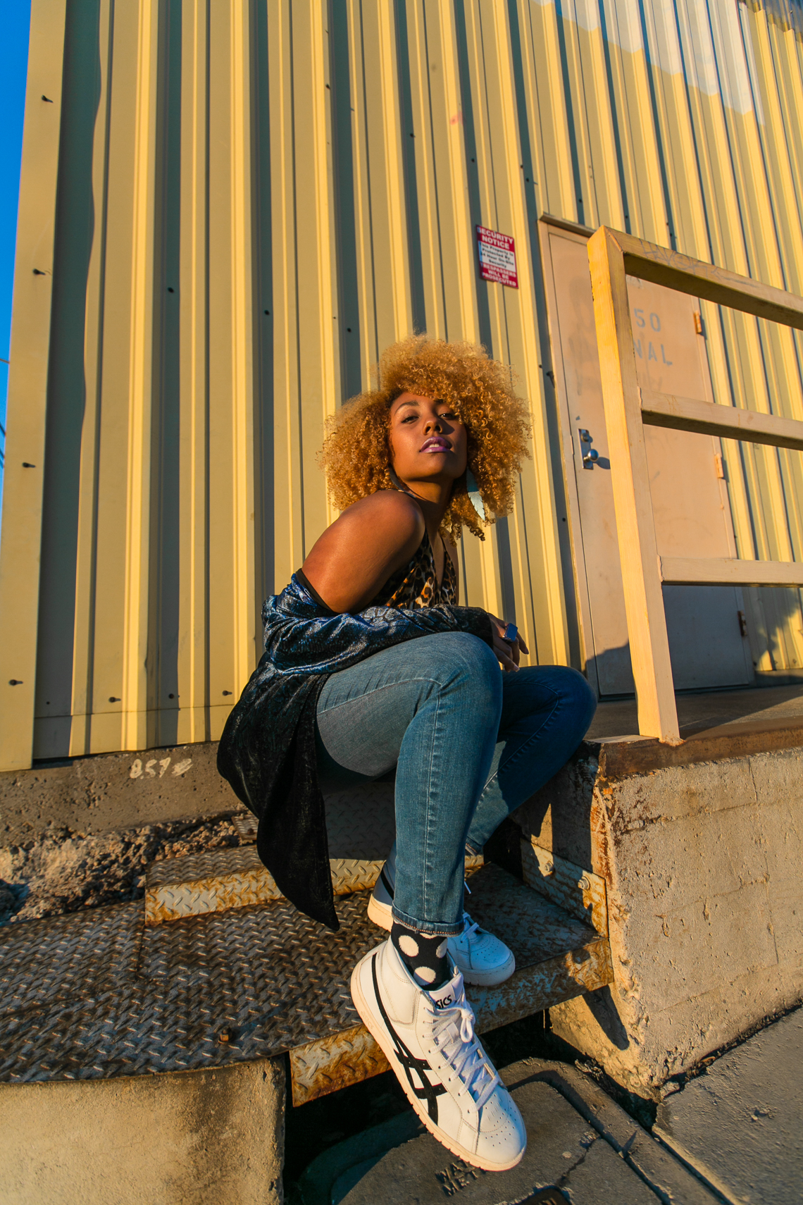 How To Shop For Clothes-asics tiger-happy socks-natural hair blogger