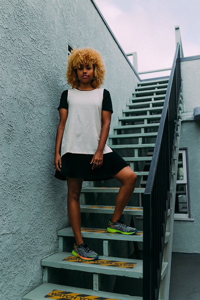 dress with sneakers-fit femme