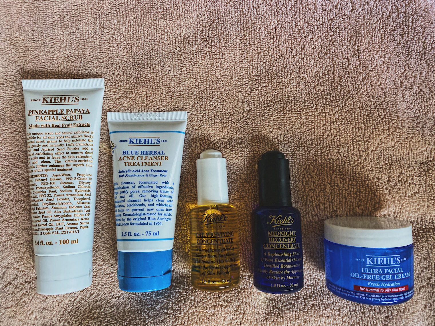 kiehls-best products for combination skin