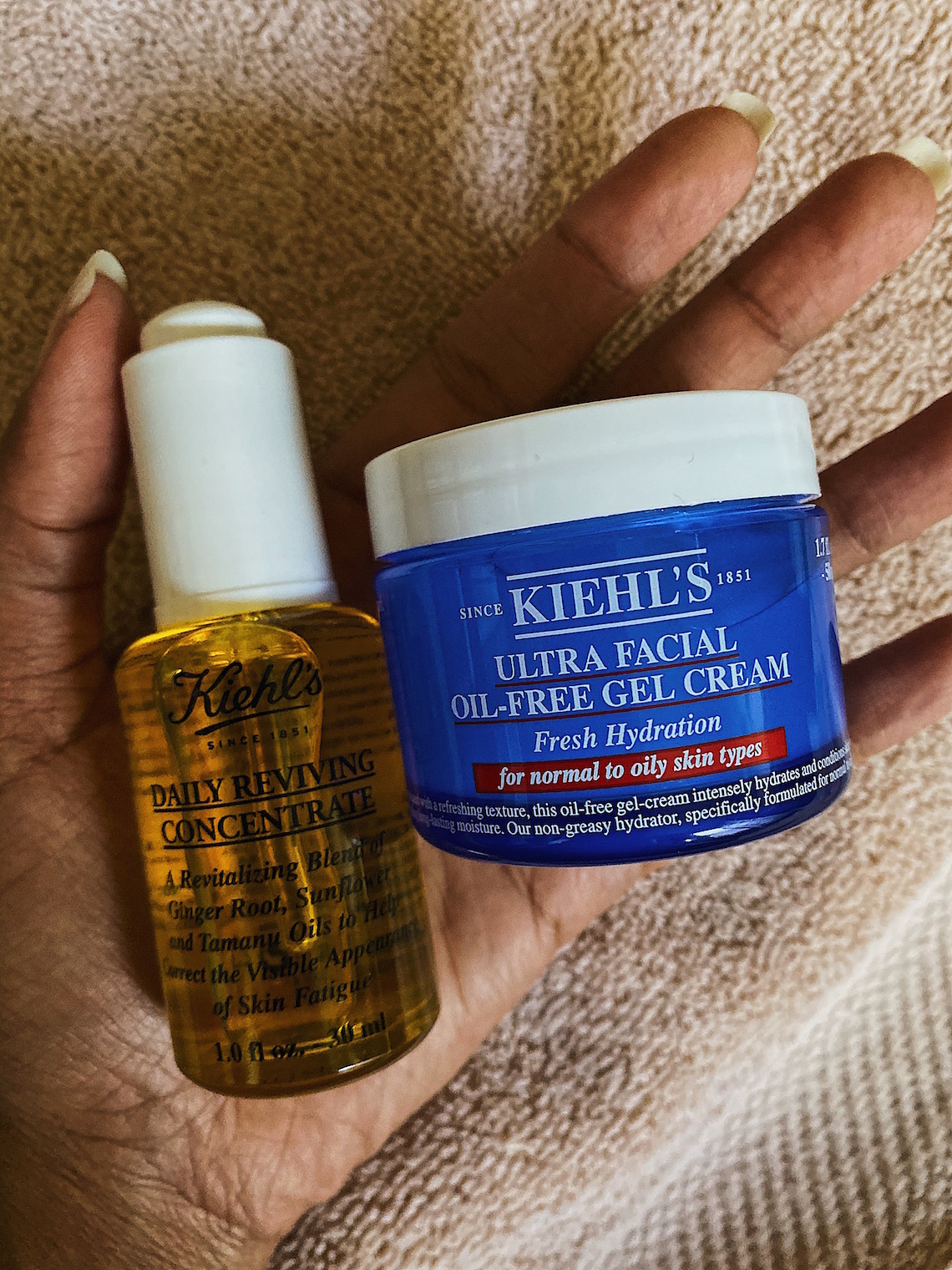 kiehls ultra facial oil free gel cream-moisturizer-daily reviving concentrate