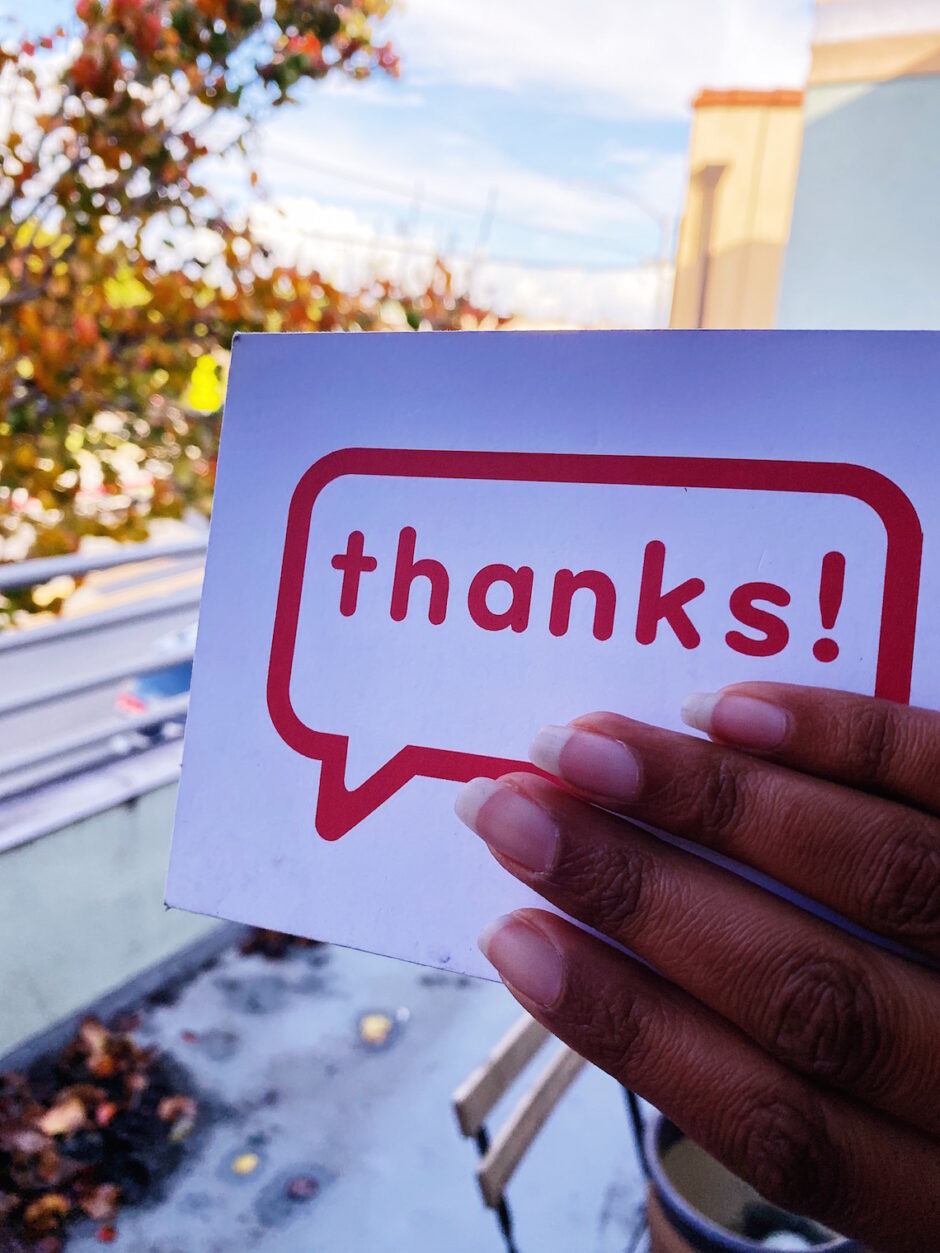 ways to say thank you-cards