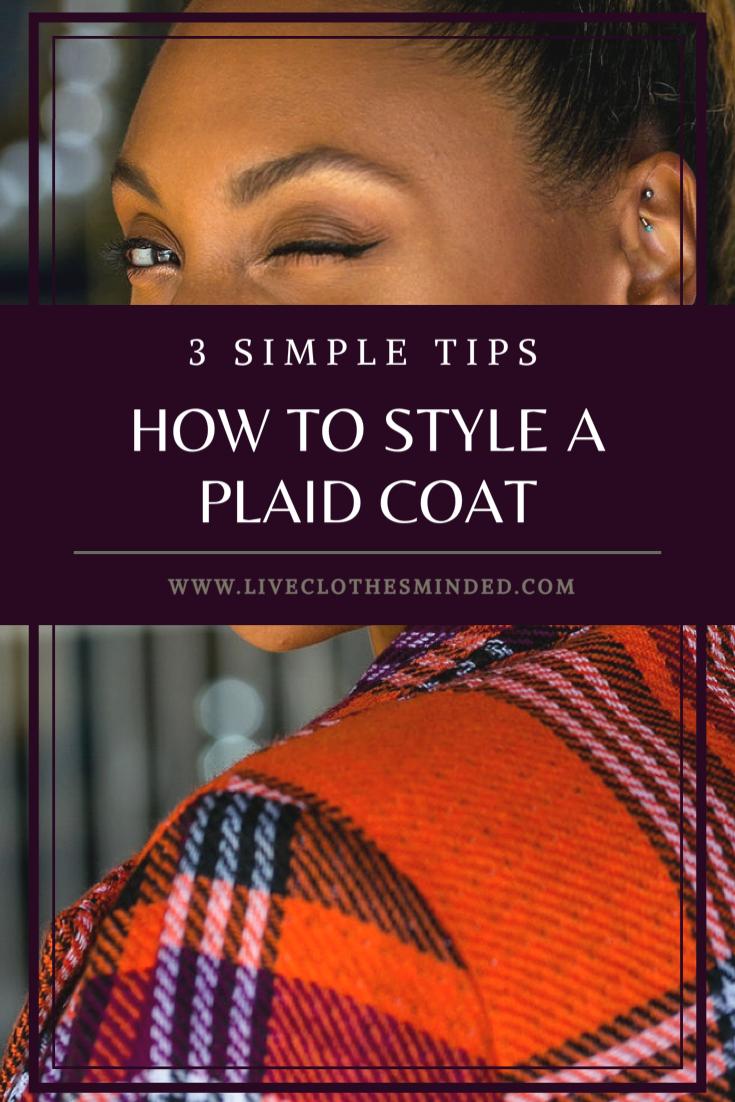 styling a plaid coat article