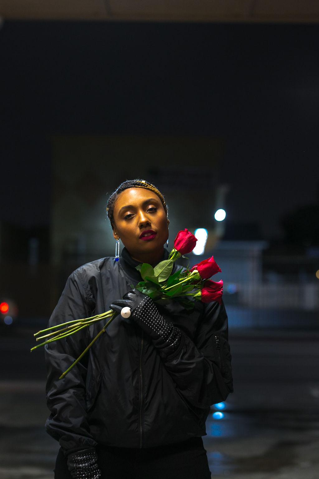 roses-night photography shoot