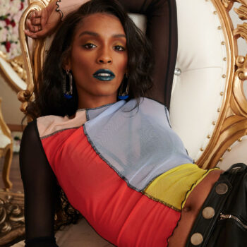 Annju'lia Smalls in Zadig&Voltaire-reaching hand-sheldon botler photography-color blocking-wear who you are-portrait