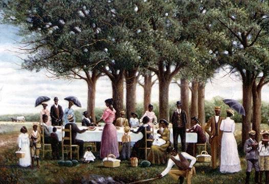 juneteenth picnic by arthello beck-black art