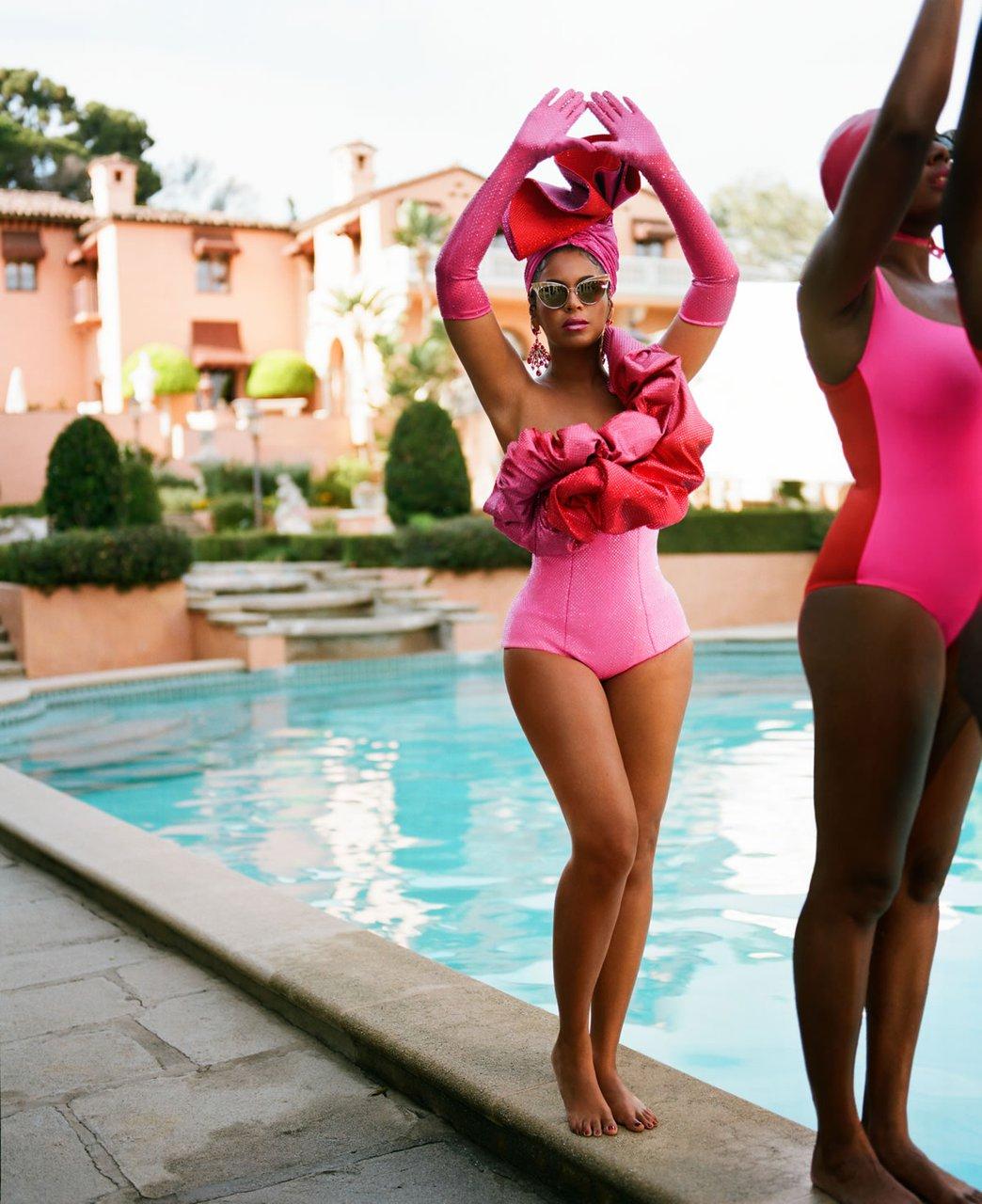 beyonce.com-disney-black-is-king-mood-4-eva-pink-red-solace-london-earrings-anabela-chan-paraiba