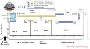 Lovers Key Boat Show 2021 Site Map