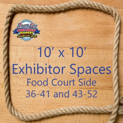 10 x 10 Exhibitor Space Food Court Side