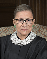 US Supreme Court Associate Justice Ruth Bader Ginsburg, Nominated by Democratic President Clinton in 1993 as the Second Woman