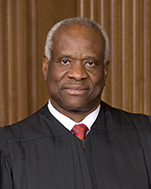 US Supreme Court Associate Justice Clarence Thomas, nominated by Republican President George Bush in 1991, before controversy
