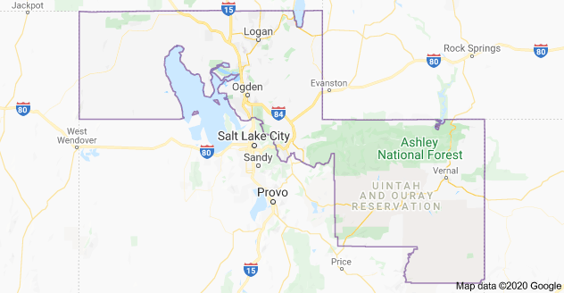 Utah's Congressional District 1 Map as of US Congress 116 with Utah District's Cities & Towns List Plus Partisan Voting Index