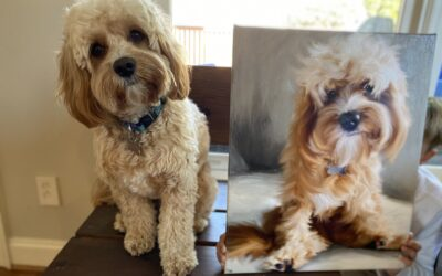 Custom Dog and Pet Mix Media Painted Portrait from Your Photo in  Birmingham Alabama