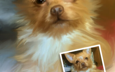 Custom Dog and Pet Mix Media Painted Portrait from Your Photo on Stretched Canvas