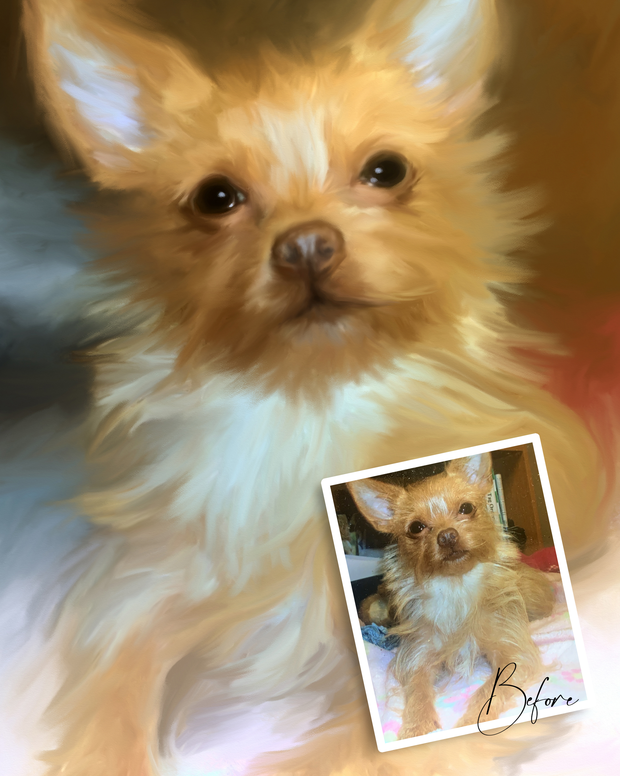 Alabama Pet Dog Painted Portrait Artist from Photo on Stretched Canvas by Carol Ferguson Art