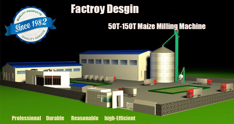 50-150T maize milling machine factroy design