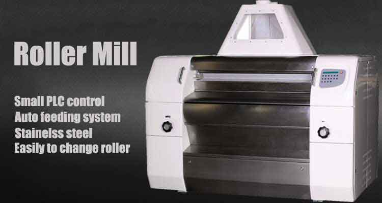 Roller milling machine in pre cooking flour milling machine