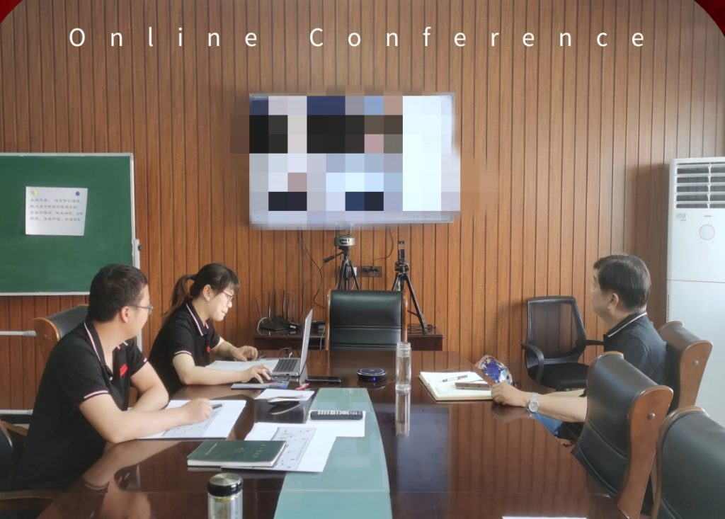 Customers and our video conference