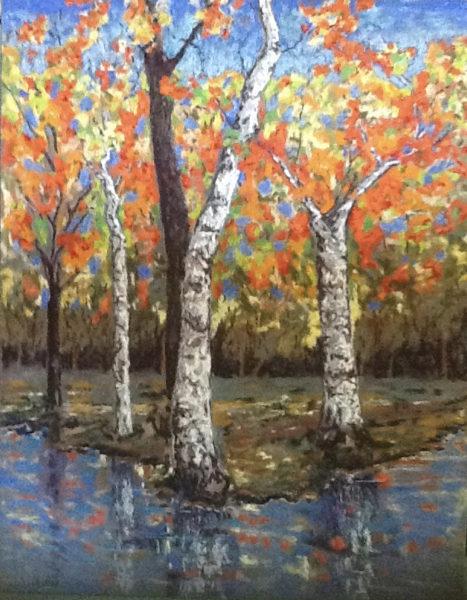 Kathy Hart, Birches in Fall