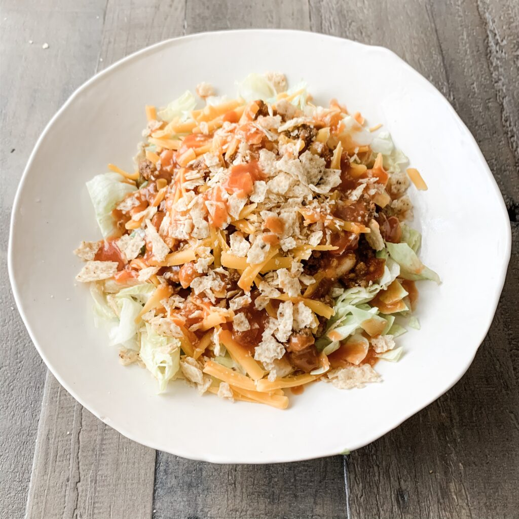 EASY TACO SALAD: 15 MINUTE DINNER IDEA