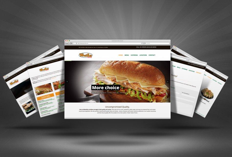 California Deli Restaurant Website Design