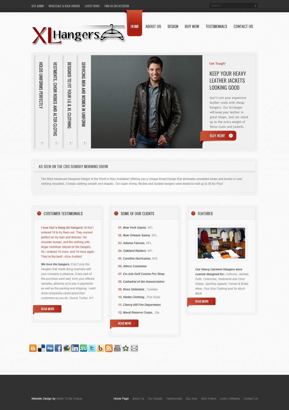Website Store Design     XL Hangers 2014