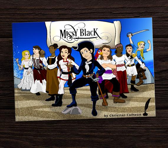 Illustrated Book Cover Design Missy Black Children's Book