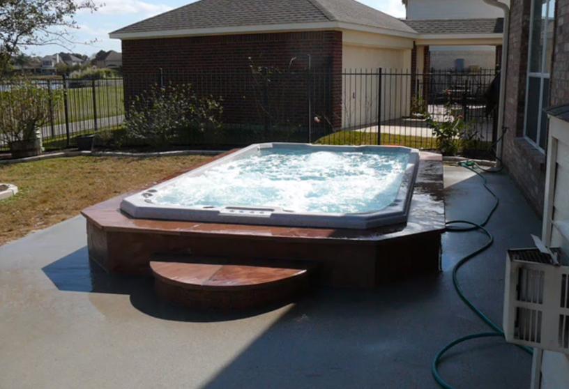 swim-spa-inground-installation-with-stone-tile