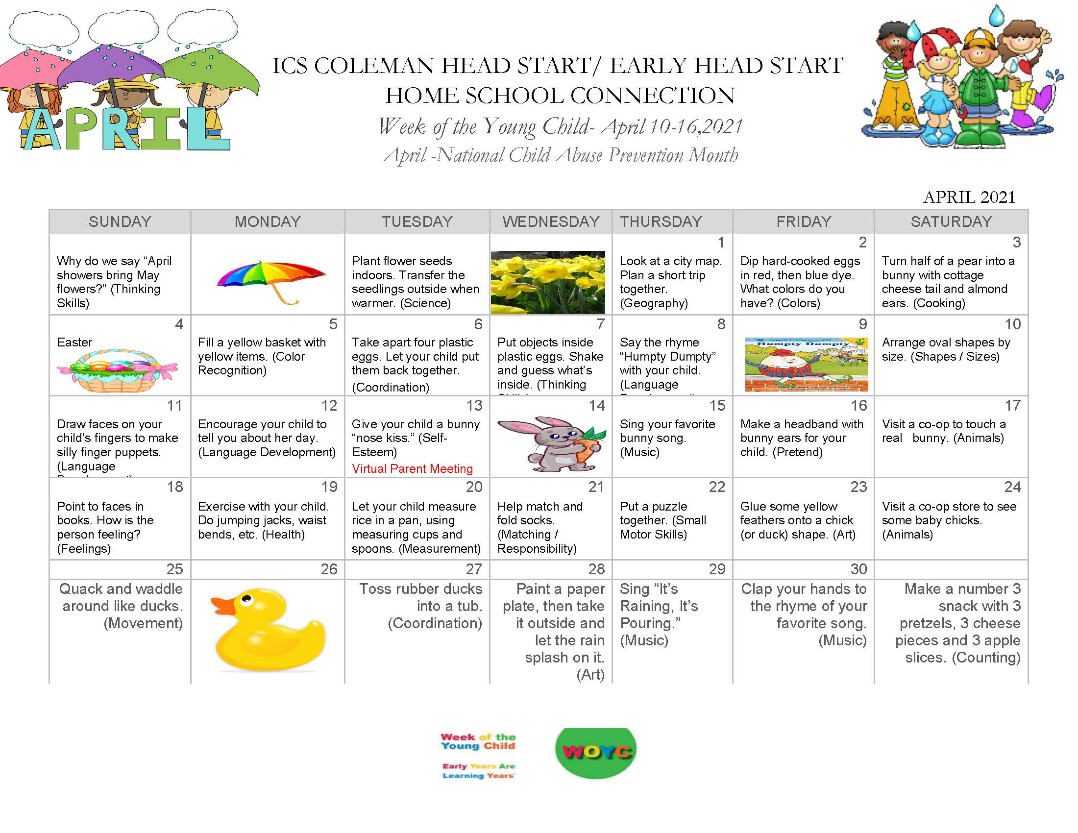 ColemanAPRIL HOME SCHOOL ACTIVITIES PROJECTS-UP-DATED-1