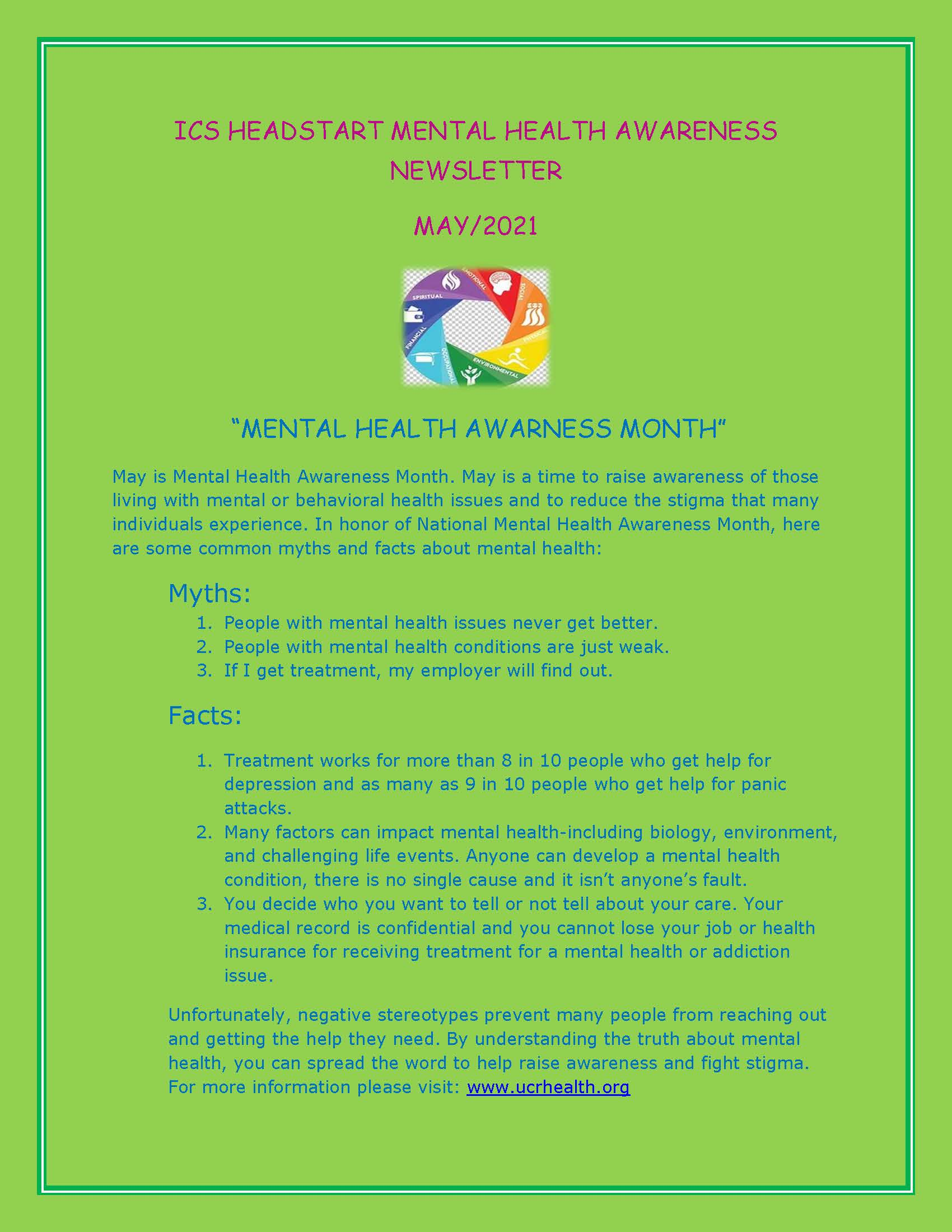 MAY ICS HEADSTART MENTAL HEALTH AWARENESS NEWSLETTER_Page_1