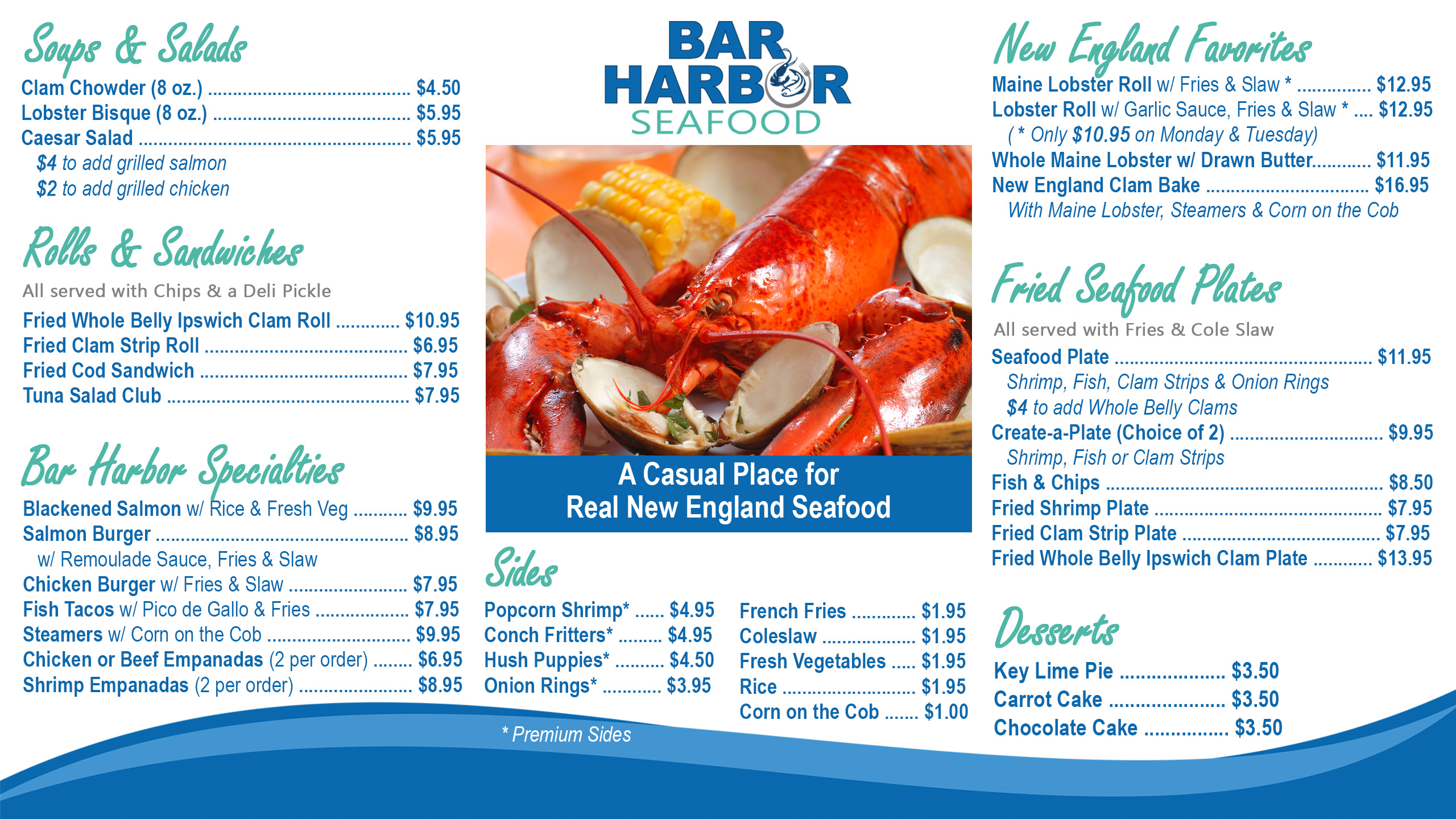 Our New Lunch Menu