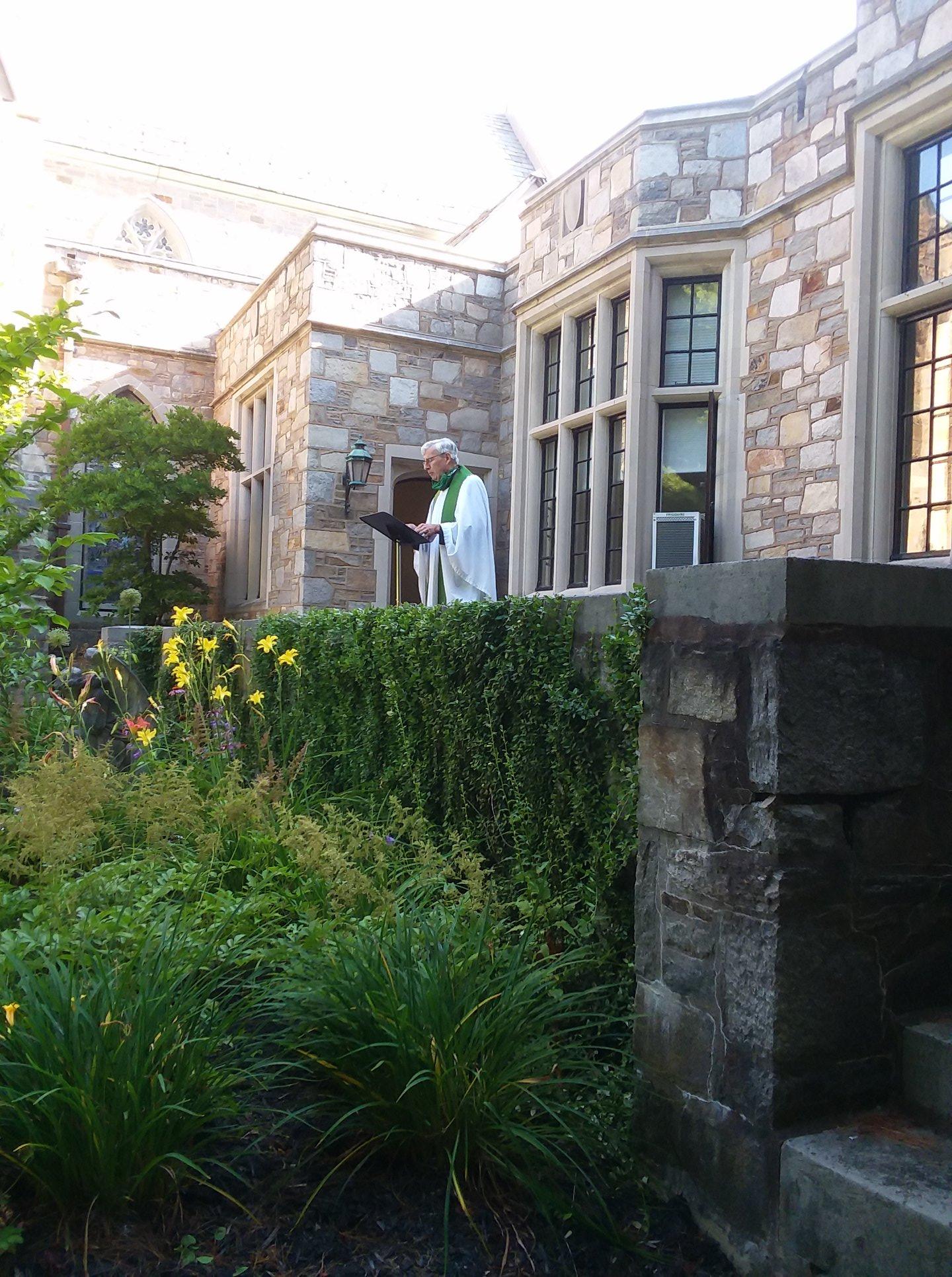 Bevan in Memorial Garden