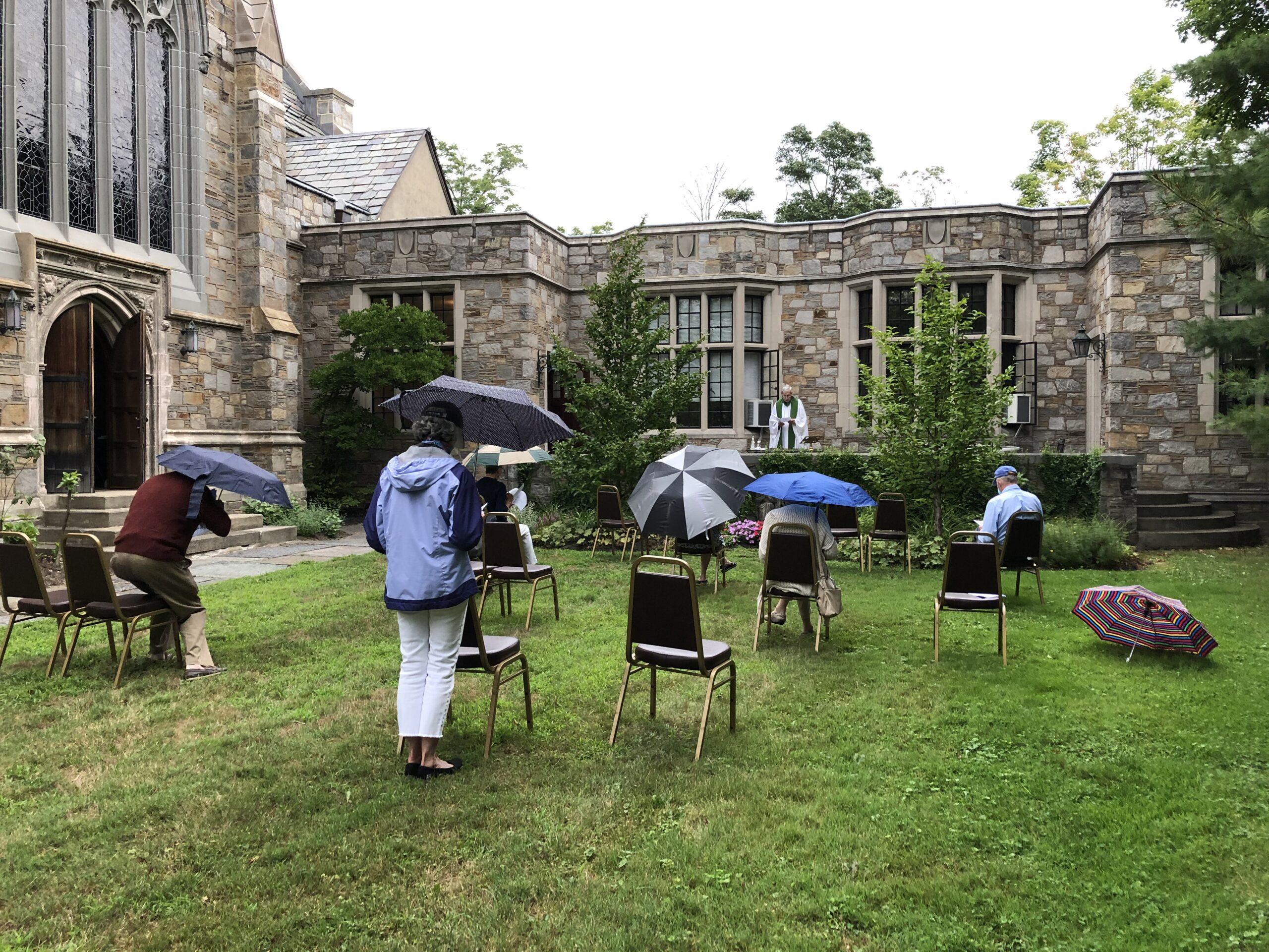 Rainy morning Memorial Garden