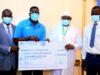Barrow presents D11 million to national football team despite players boycott