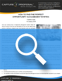 Find The Perfect Opportunity Management System