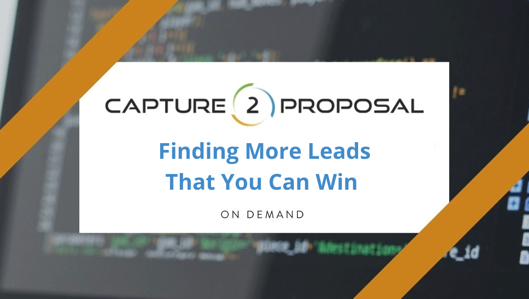 Finding More Leads That You Can Win – Watch Now!